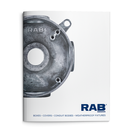Cover page of RAB Design Lighting Construction Catalogue